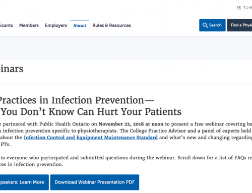 Best Practice in Infection Prevention